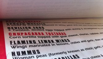 I'll Have the Chickpeas — Er, I Mean Woman Peas