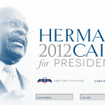 "Cain ""Suspends"" Campaign…And Should Suspend Whoever Decided to Use This Photo on His Website's Homepage"